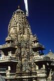 Außenarchitektur des Jain Tempels Stockbild
