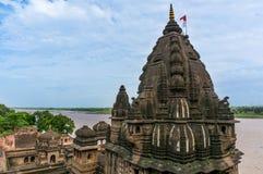 Außenaufnahmen von Ahilya-Fort Maheshwar Stockbilder