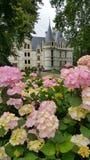 Außenfassade des französischen Chateaus Lizenzfreies Stockfoto