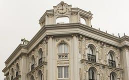 Außenfassade eines aufwändigen türkischen Gebäudes Stockfotos