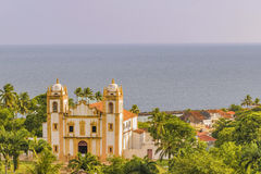 Außenfassaden-Antiken-Kolonialkirche Olinda Brazil Stockbild