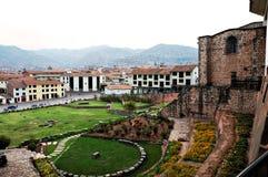 Außenhof der Koricancha Kathedrale Stockfotografie