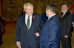 Außenminister Boris Johnson Briten im offiziellen Besuch nach Serbien Stockfotografie