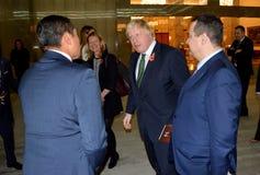 Außenminister Boris Johnson Briten im offiziellen Besuch nach Serbien Stockfoto