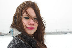 Außenseite an einem kalten windigen Tag Stockfotos