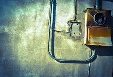 Außenstromkasten stockfotografie