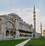 Außentag angelte Schuss von Suleymaniye-Moschee, eine Osmanekaisermoschee, die auf dem dritten Hügel von Istanbul, die Türkei gel Stockfotos