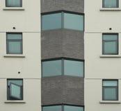 Außenwand-Beschaffenheiten des Bürohauses Lizenzfreie Stockfotos