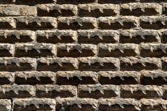 Außenwand des alten Ziegelsteines Lizenzfreies Stockfoto