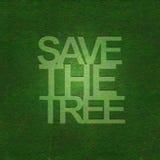 Außer dem Baum auf Grasbeschaffenheit Lizenzfreie Stockfotografie