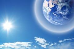 Außer der Erde stockbild