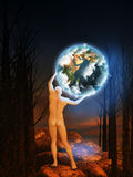 Außer der Erde Stockfoto