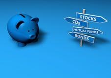 Außer oder investieren Sie Lizenzfreie Stockfotos