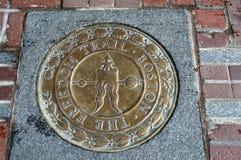 Außerhalb Boston-` s historischen alten Südbethauses Freiheitshintermarkierung Lizenzfreie Stockfotos