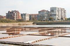 Außerhalb der Museumsausstellung des Salzes in Pomorie, Bulgarien Stockbild
