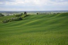 Außerhalb der Stadt - ländliche Landschaft - eine alte Windmühle auf dem Feld Stockfotos