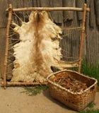 Außerhalb eines Iroquois Longhouse Lizenzfreies Stockfoto