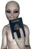 Außerirdische-Reise-Pass lokalisiert vektor abbildung