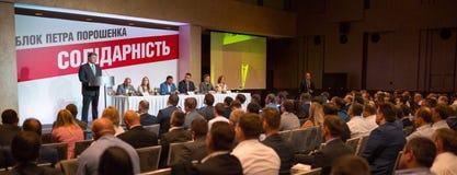 Außerordentlicher Kongreß der politischen Partei Stockbild