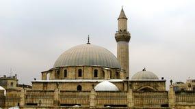 Außenansicht zu Khusruwiyah-Moschee in der Mitte von Aleppo, Syrien lizenzfreie stockfotos