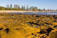 au brzegowy przylądkowy Queensland skalisty światło słoneczne fotografia stock