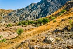 Au cap Meganom en Crimée image libre de droits