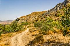 Au cap Meganom en Crimée photo libre de droits