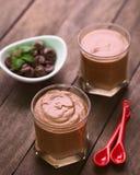 Au Chocolat de la crema batida Foto de archivo