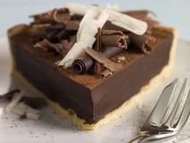 Au Chocolat de Tarte Imagen de archivo libre de regalías