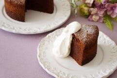 Au Chocolat del pastel Imagen de archivo