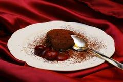 Au Chocolat della mousse fotografie stock