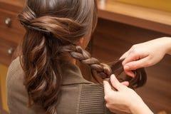 Au coiffeur photo stock