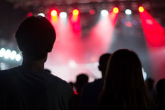 Au concert de techno Images libres de droits