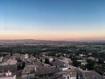 Au de Coucher de soleil Barroux, Provence et Luberon photos libres de droits