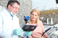 Au dentiste photos libres de droits