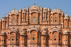 1799 au-dessous de la pièce mahal discrète de palais de l'Inde Jaipur de hawa de harem de formes conçue par ville de construction Photo stock