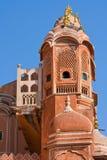 1799 au-dessous de la pièce mahal discrète de palais de l'Inde Jaipur de hawa de harem de formes conçue par ville de construction Photo libre de droits