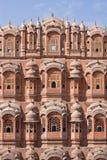 1799 au-dessous de la pièce mahal discrète de palais de l'Inde Jaipur de hawa de harem de formes conçue par ville de construction Photographie stock libre de droits