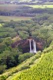 Au-dessous des automnes de Wailua Photographie stock libre de droits