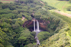 Au-dessous des automnes de Wailua Image libre de droits