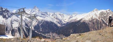 Au-dessous du village Dombay Photos libres de droits