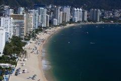 Au-dessus d'Acapulco photographie stock