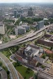 Au-dessus de Dusseldorf photos stock