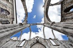 Au-dessus de l'église de Carmo Photographie stock libre de droits