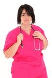 Au-dessus de l'infirmière de poids Photo libre de droits