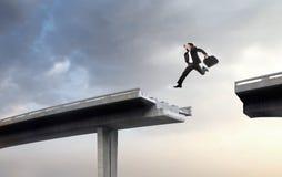 Au-dessus de l'obstacle Image libre de droits
