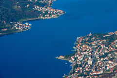 Au-dessus de la baie de Kotor, Monténégro Images stock