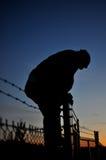 Au-dessus de la frontière de sécurité Photographie stock libre de droits