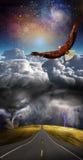 Au-dessus de la tempête Images libres de droits