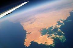 Au-dessus de la terre colorée. Photo libre de droits